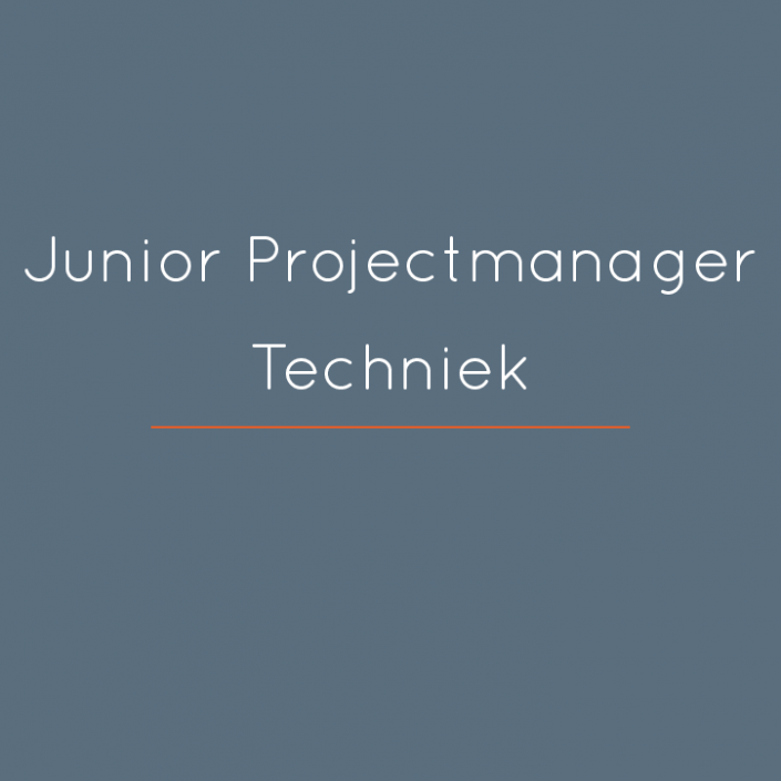Junior Projectmanager Techniek